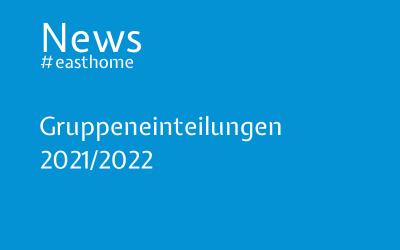 Gruppeneinteilungen 2021/2022