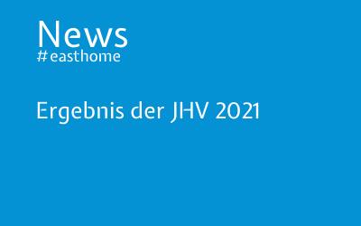 Ergebnis der JHV 2021